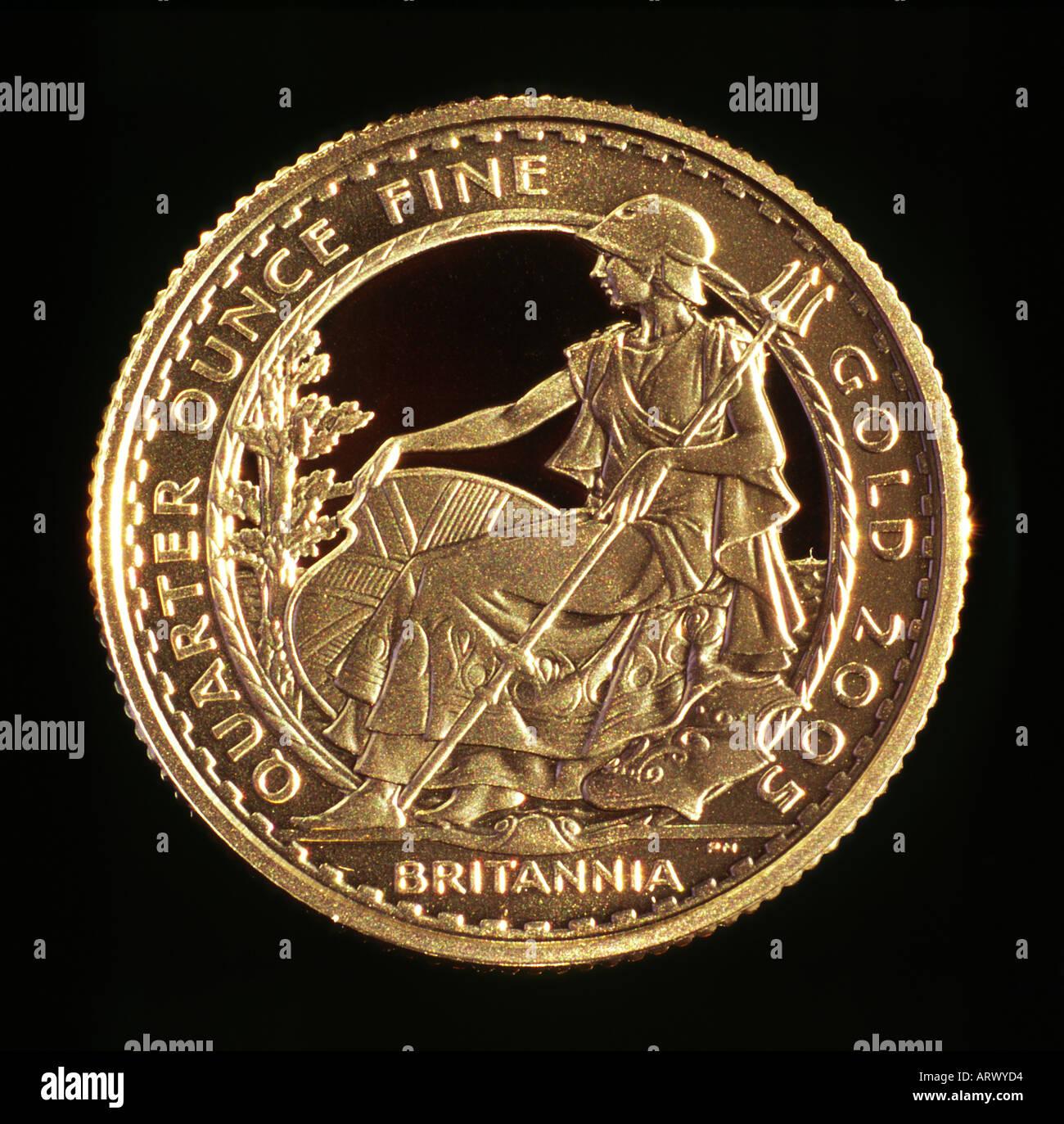 2005 Gold Britannia Immagini Stock