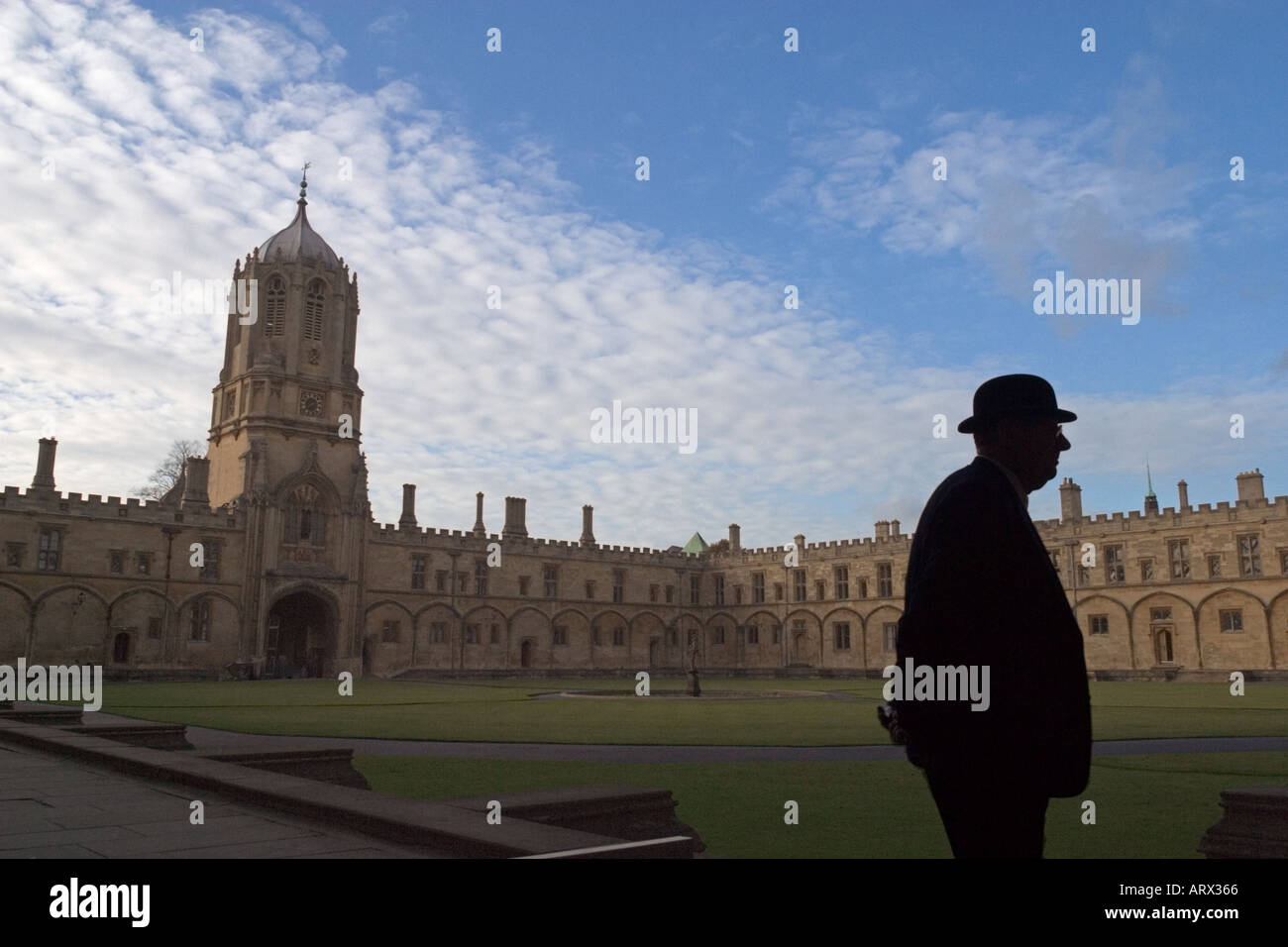 Cortile del Christ Church College di Oxford University Immagini Stock