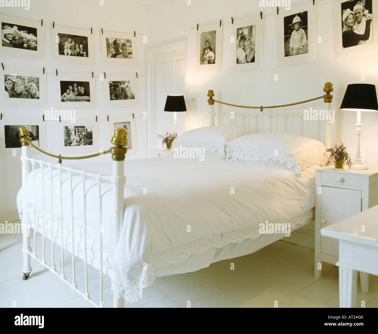 Camera Da Letto Bianca E Nera le fotografie in bianco e nero sulle pareti della camera da