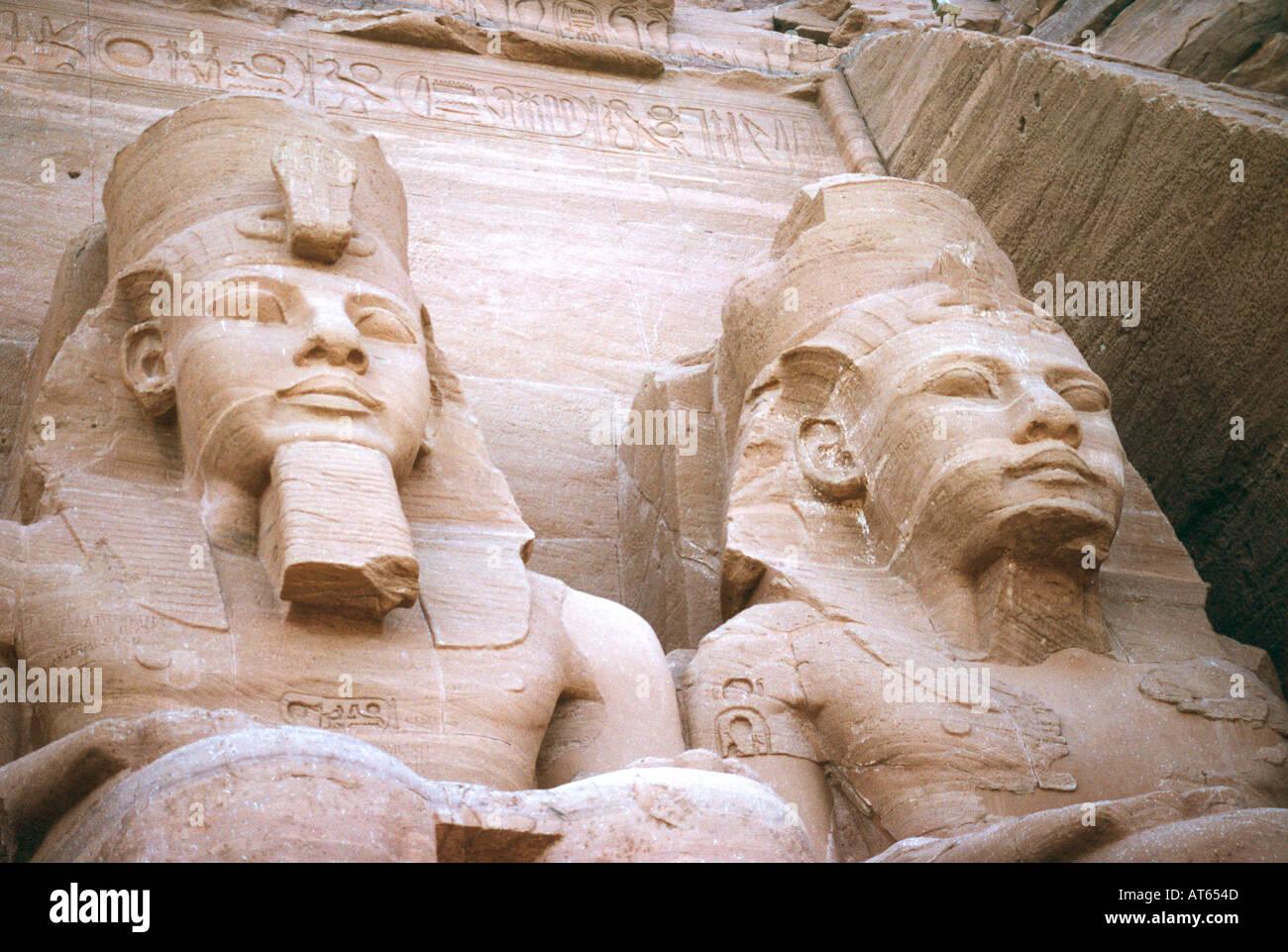 Abu Simbel, lago Nasser, Egitto. Alto Egitto e la Nubia, Egitto. abu simbel, lago Nasser, Egitto. Foto Stock