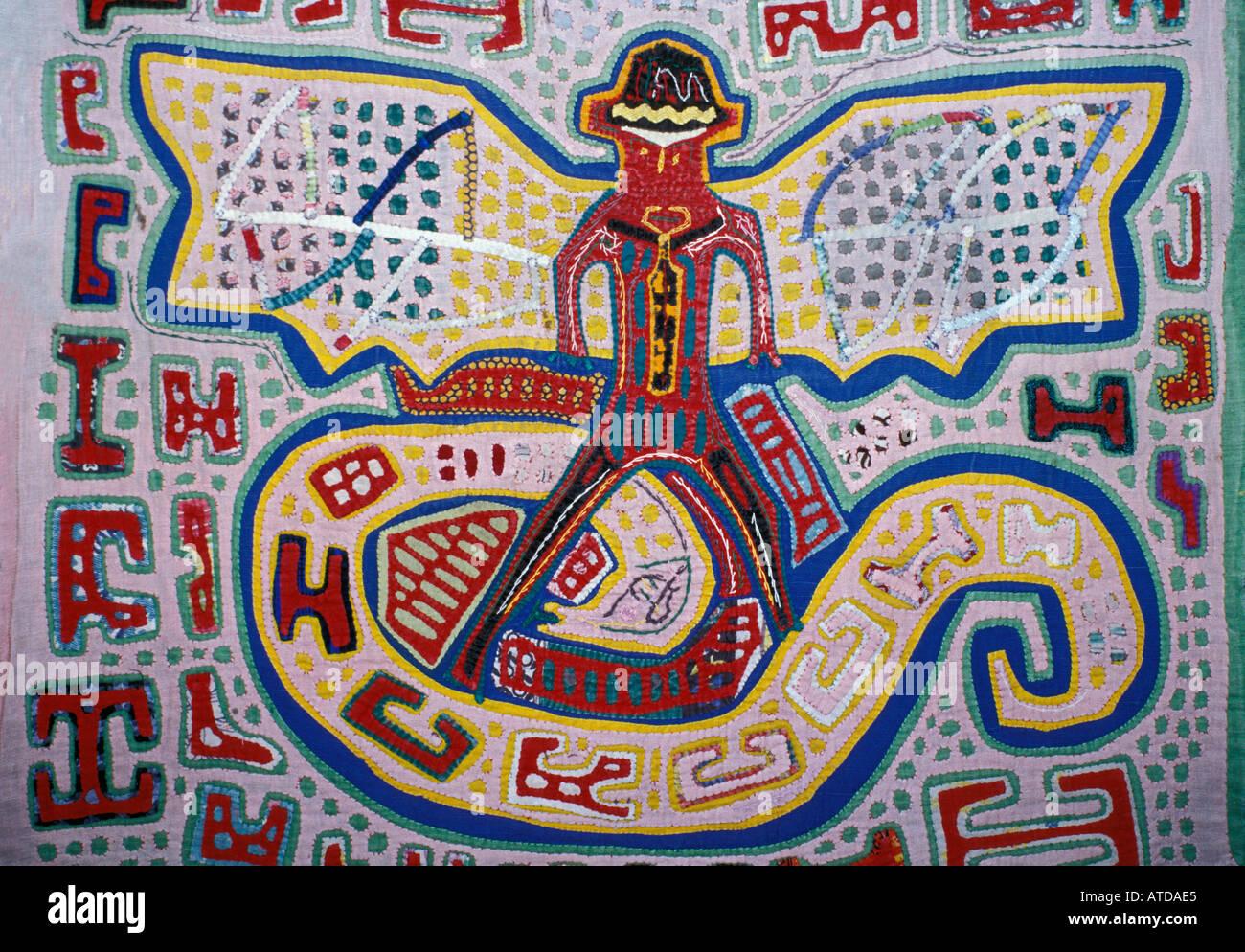 Applique decorazione applicata a bluse Molas s degli Indiani Kuna isole San  Blas Panama Immagini Stock a7eb78f44790