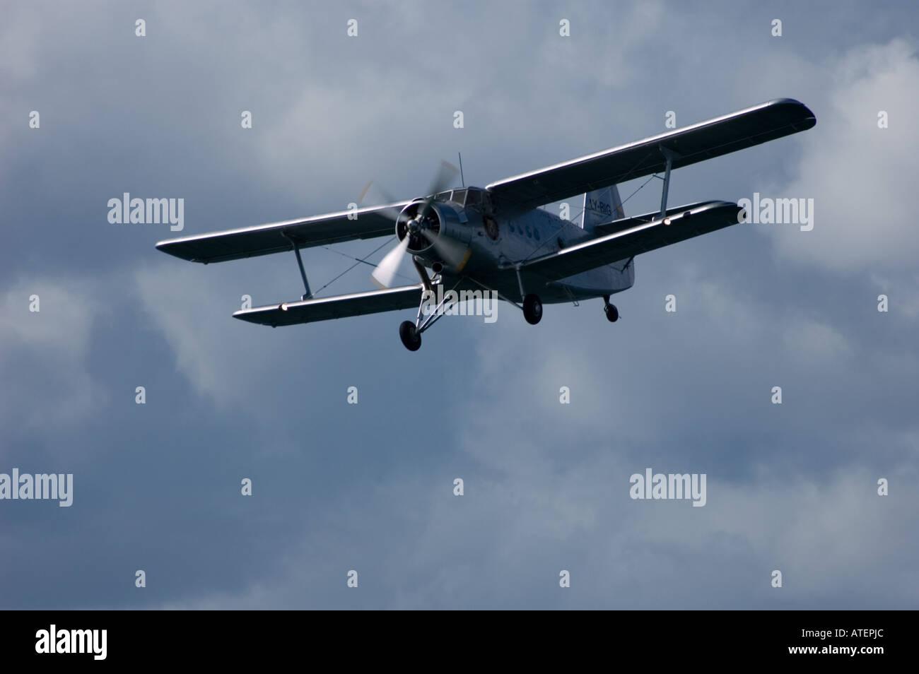 Biplano Antonov Immagini Stock