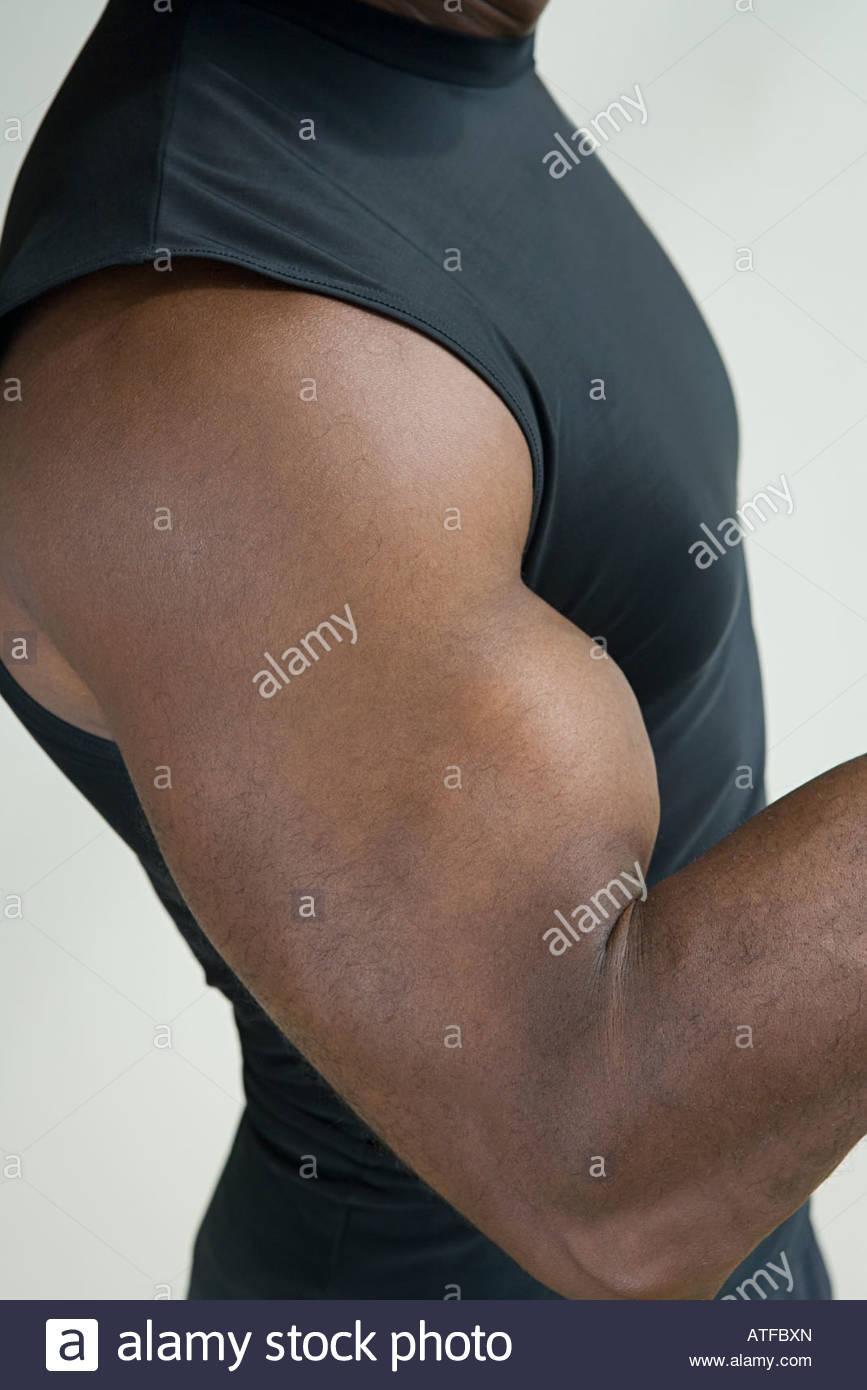 Un braccio muscoloso Immagini Stock