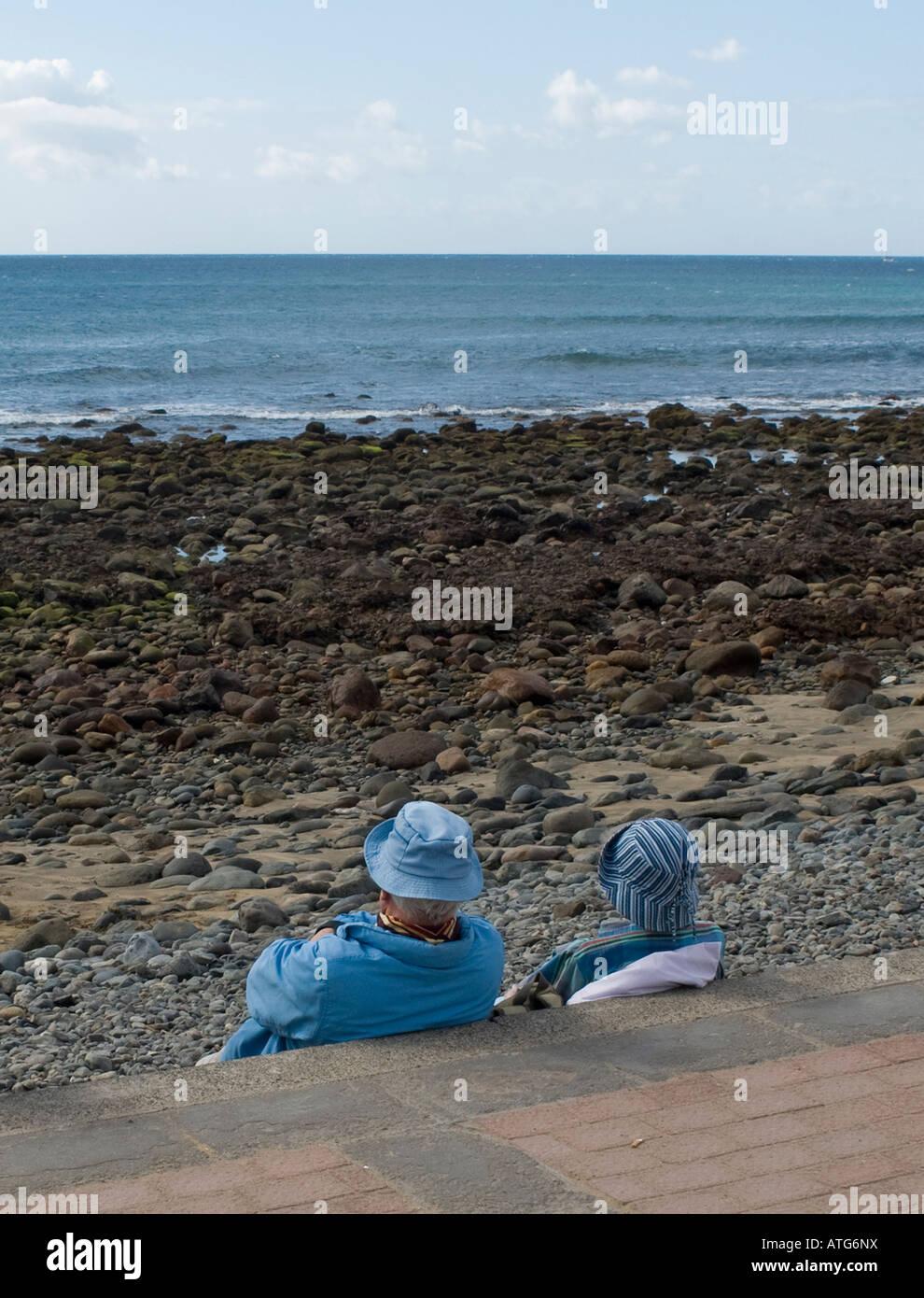 I turisti in Gran canaria Immagini Stock