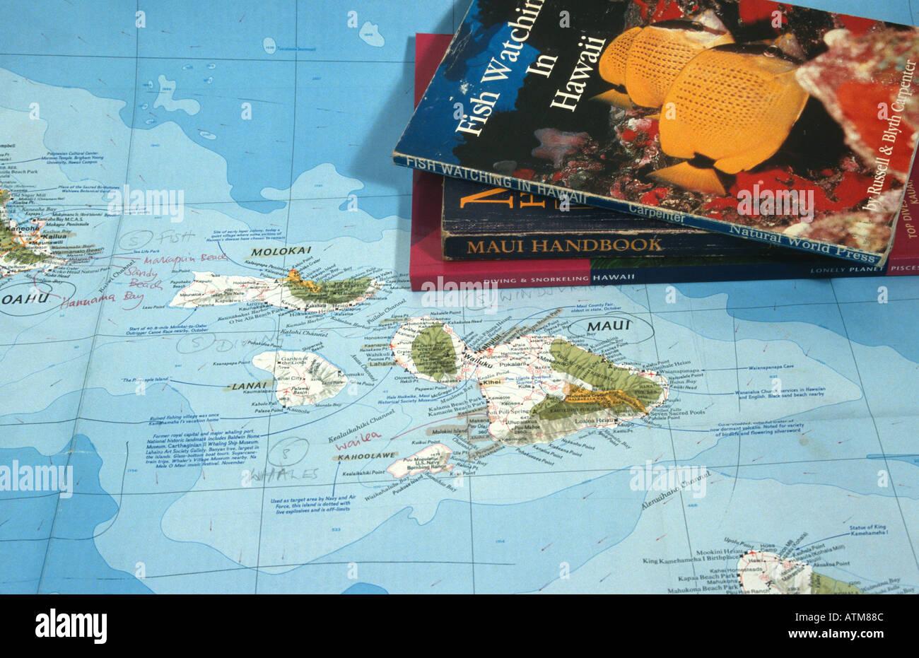 Cartina Mondo Hawaii.Hawaii Map Immagini E Fotos Stock Alamy