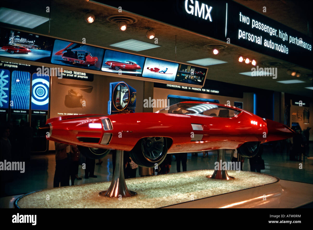 General Motors GM-X Stiletto concept car, alla fiera mondiale di New York 1964-5 Immagini Stock