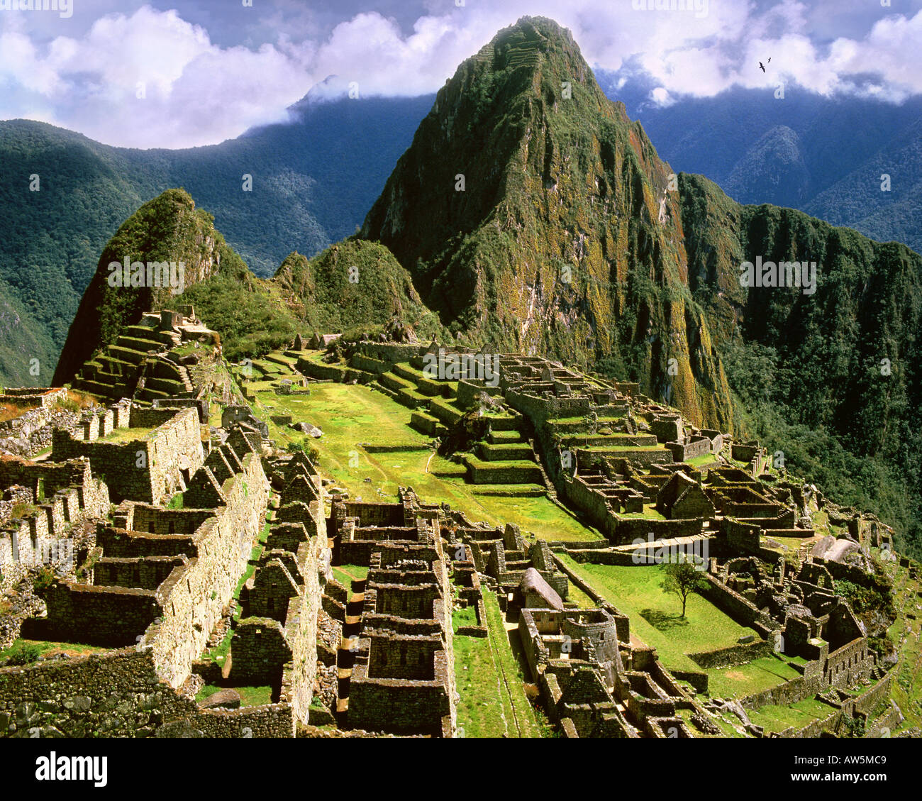 PE - Cuzco: Machu Picchu, l'antica città Inca delle Ande Foto Stock