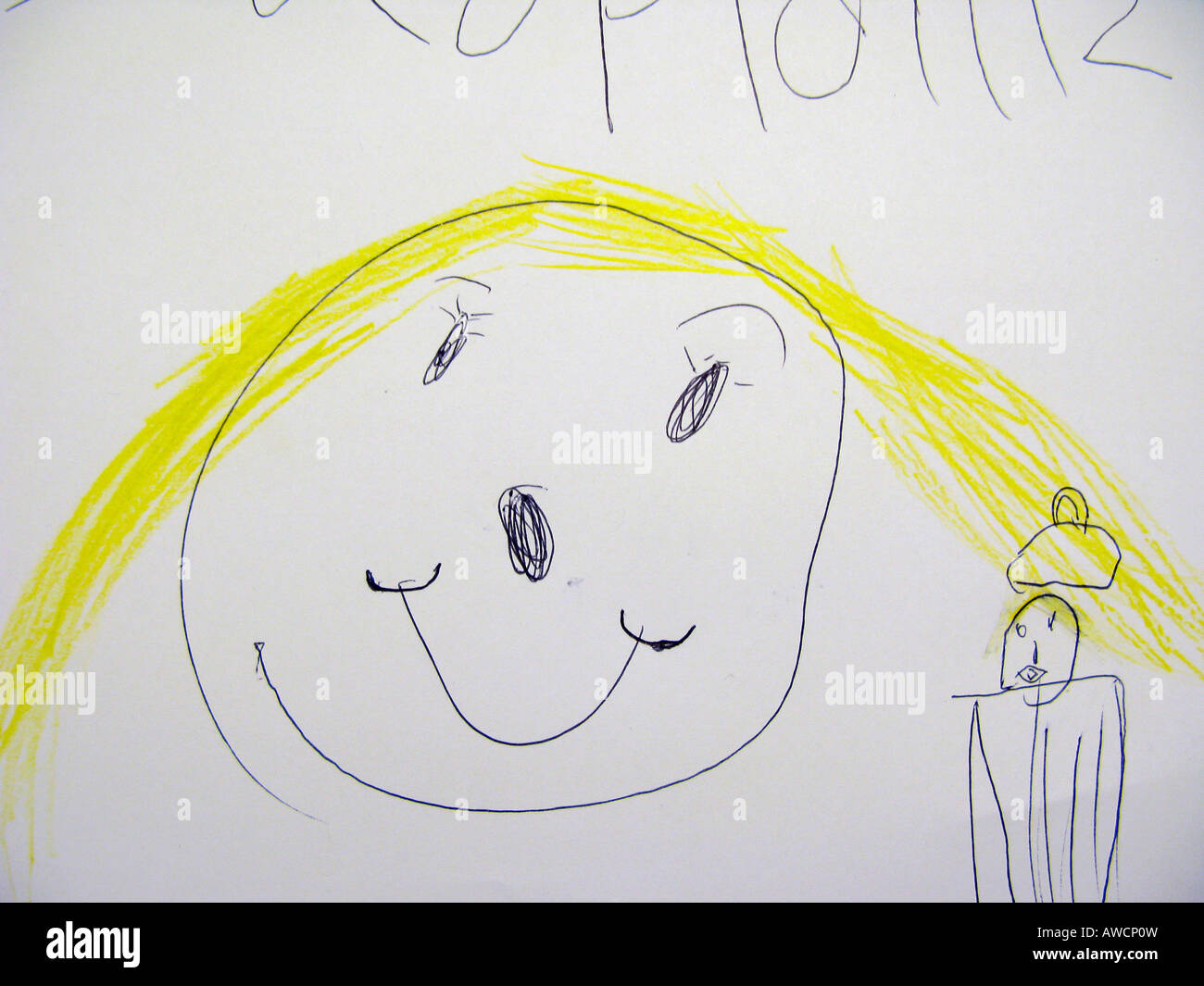 Disegno Di Un Bambino : Bambino s di disegno di un volto sorridente foto & immagine stock