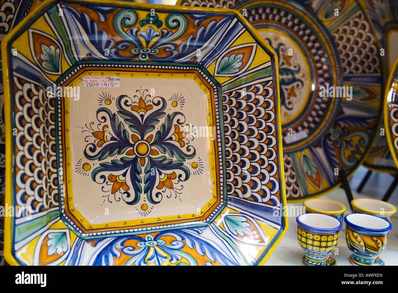 CALIFORNIA Santa Barbara interno della ceramica italiana outlet ...
