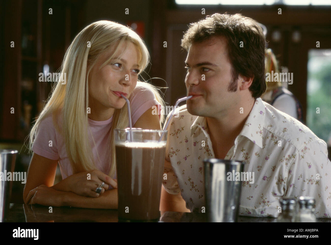 SHALLOW HAL 2001 Twentieth Century Fox Film con Gwyneth Paltrow e Jack Black Immagini Stock
