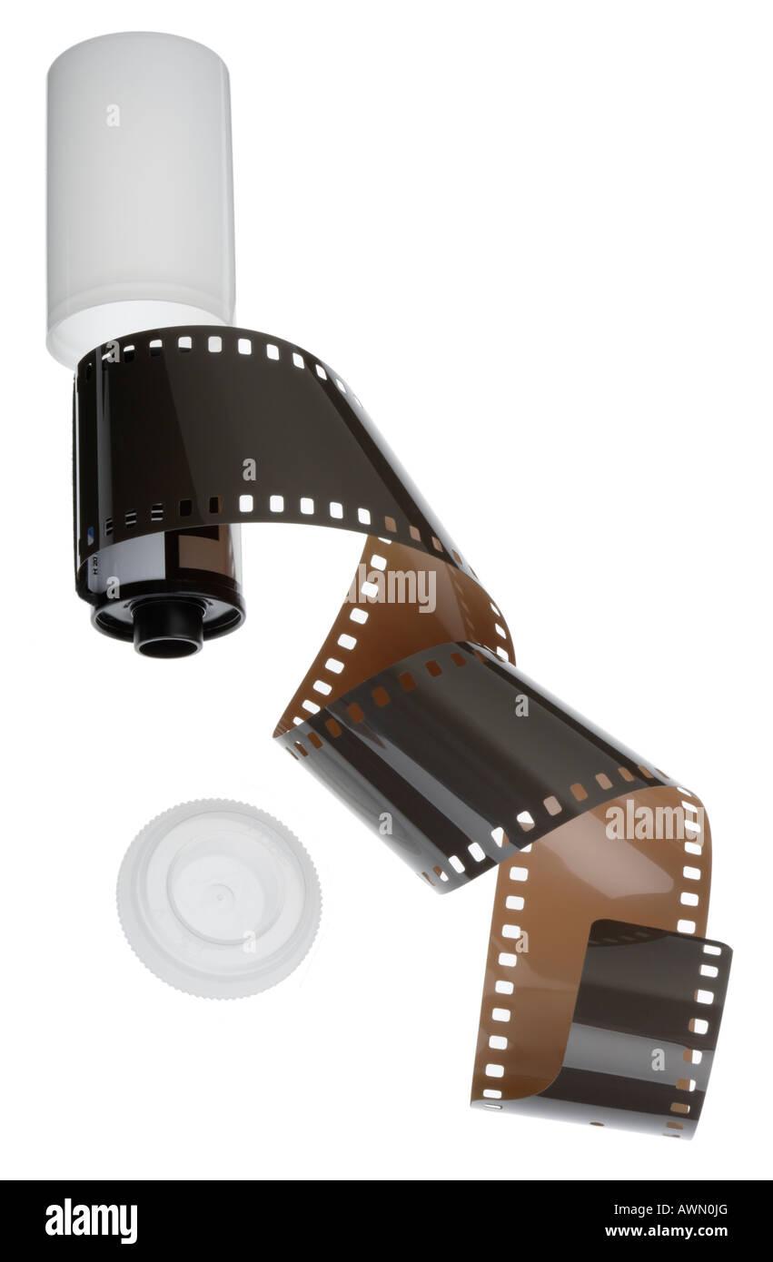 Pellicola di 35mm e cassette Immagini Stock