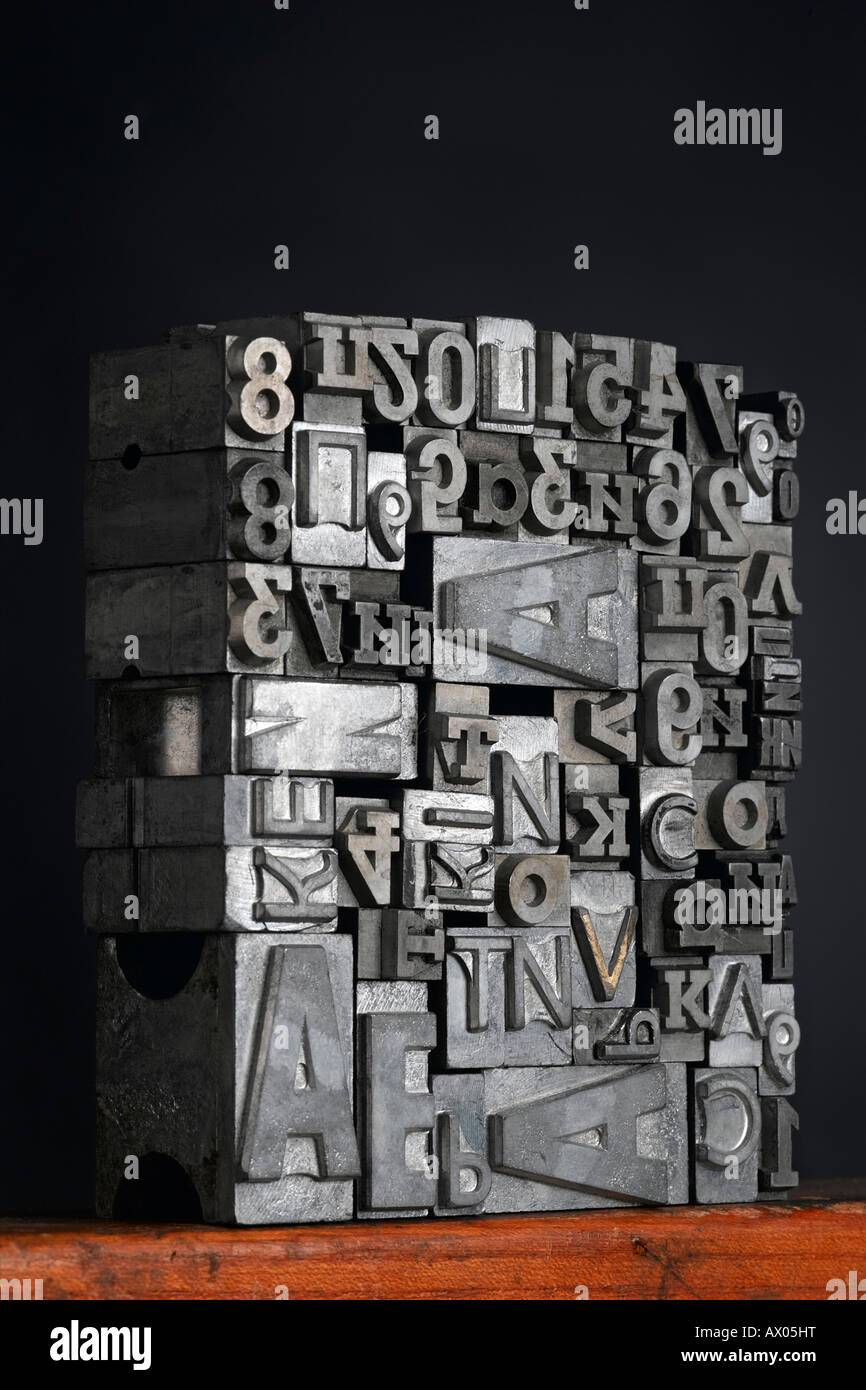 Tipografia vintage lettere Immagini Stock