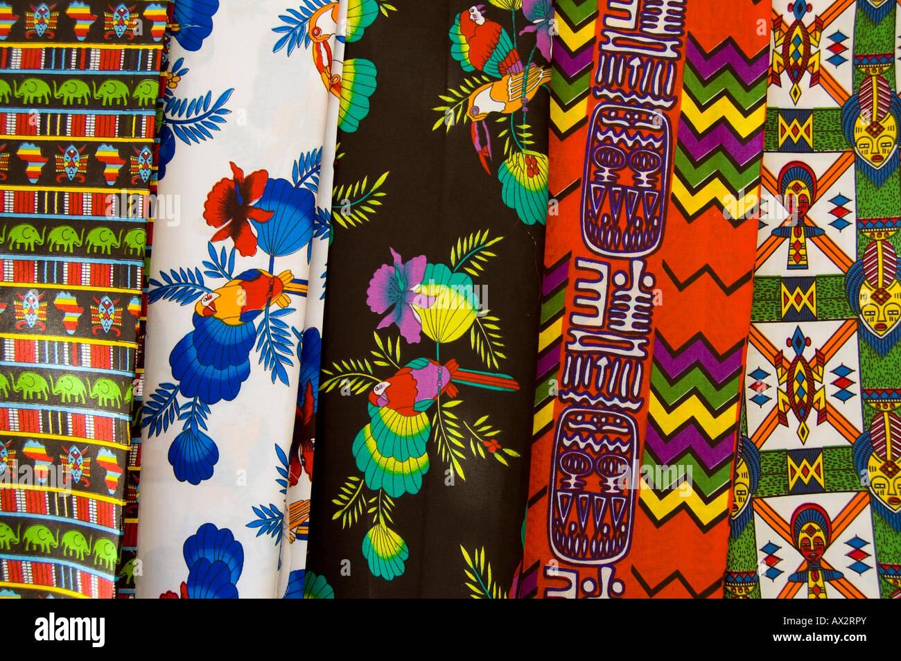 Viaggi, Senegal, Dakar, still life, tessuto stampato, Immagini Stock
