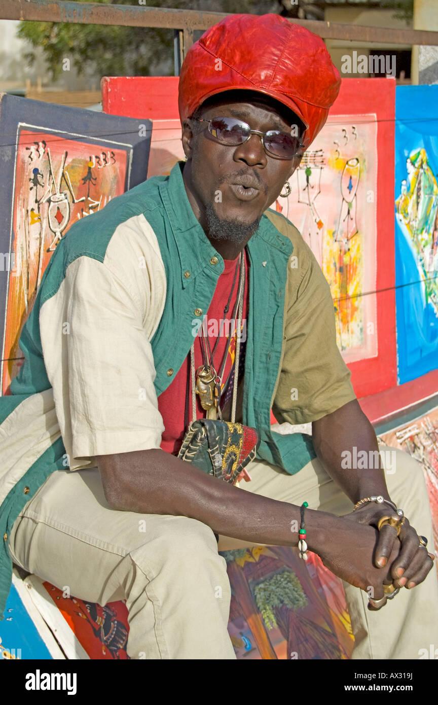 Viaggi Senegal Dakar Locale Uomo Coco Lartista Con I Suoi