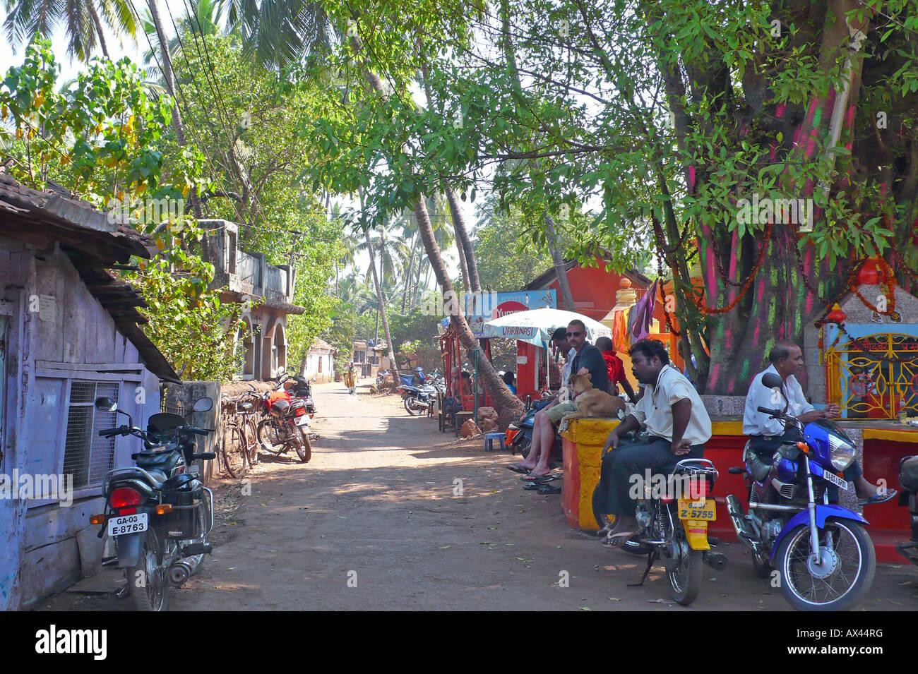 Villaggio Chapora, Goa, India Immagini Stock