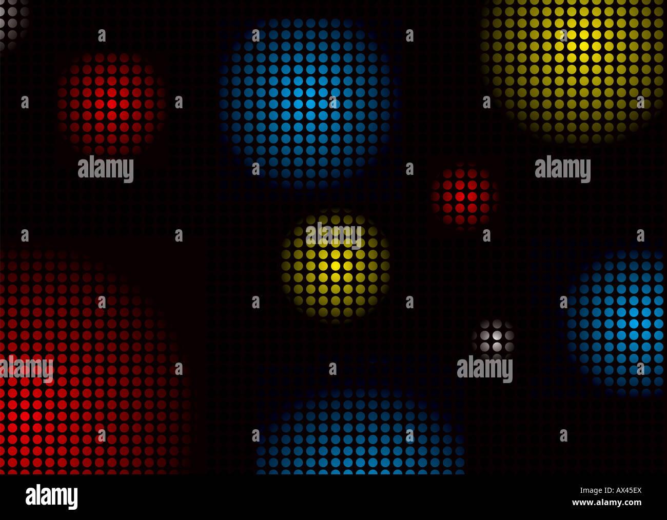 Abstract sfondo colorato con palla da discoteca modello di forma Immagini Stock