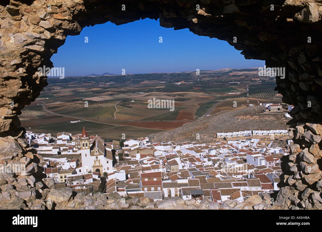 Teba,Bianco villaggio o Pueblo Blanco, provincia di Malaga, Andalusia Andalusia, Spagna Immagini Stock