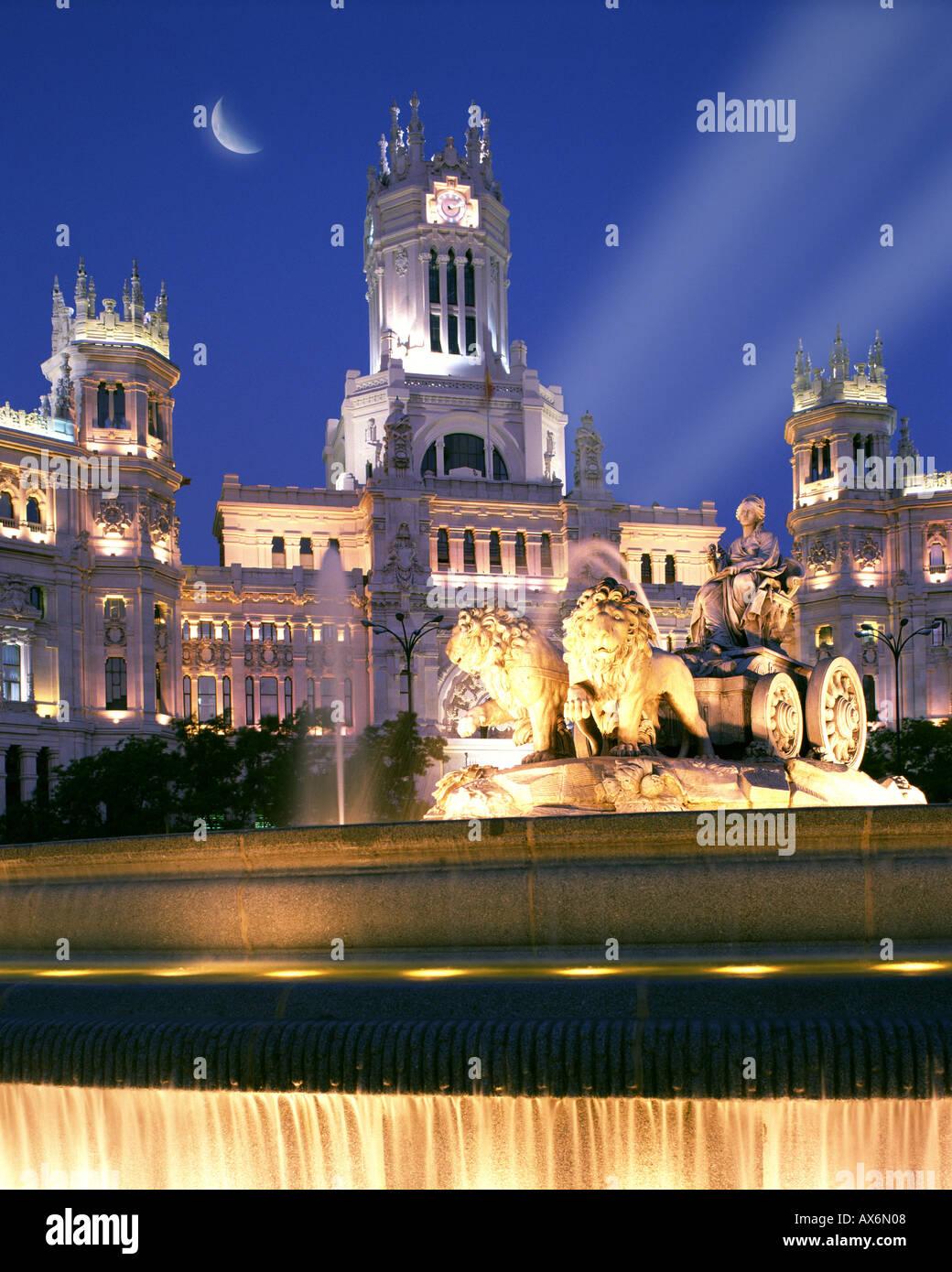 ES - MADRID : Plaza de Cibeles Immagini Stock