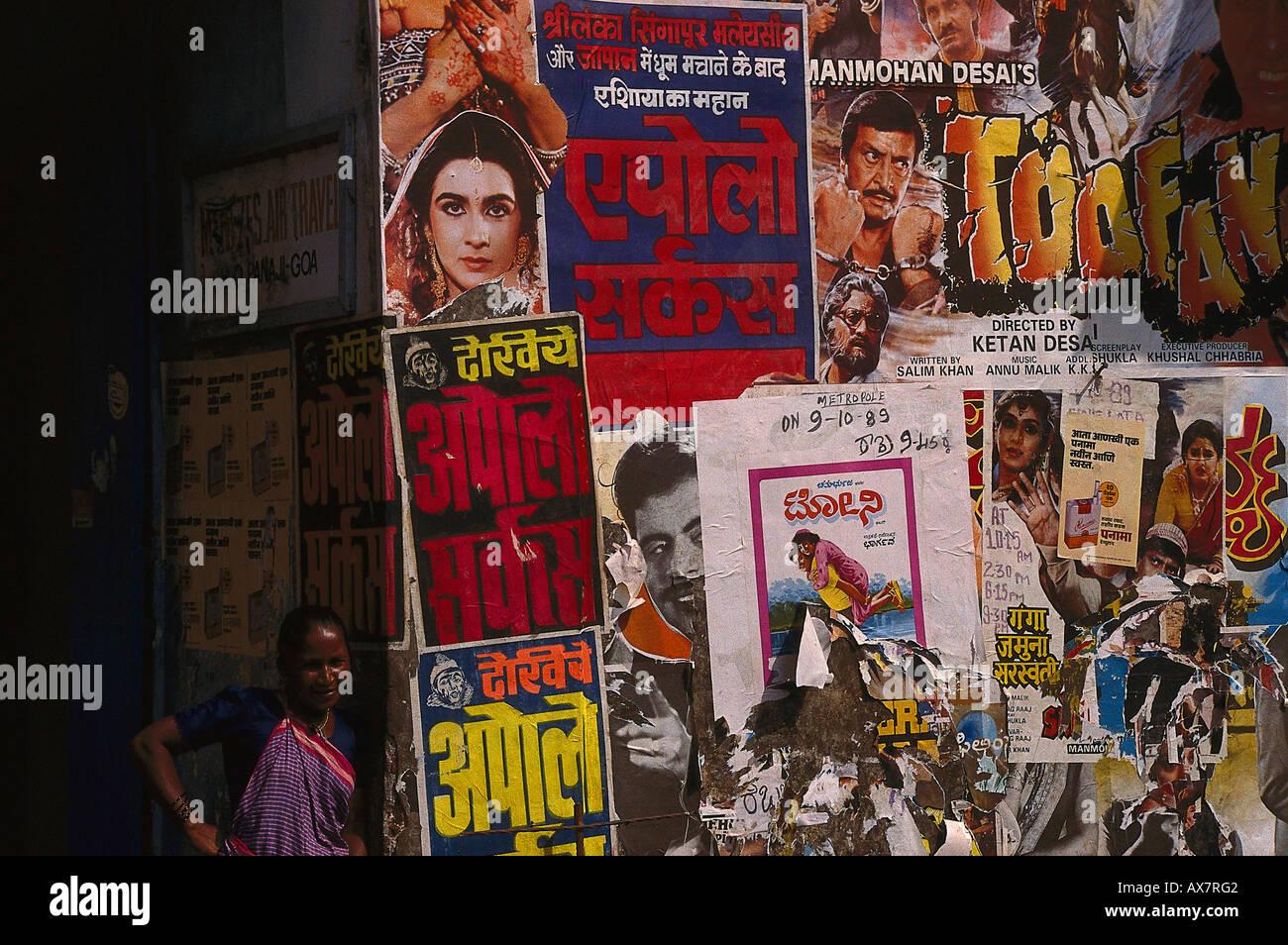 Kinoplakate, Margao, Goa, Indien Immagini Stock