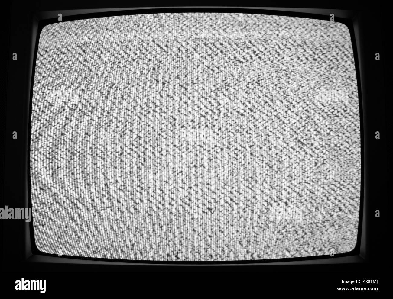 Statico della televisione Immagini Stock