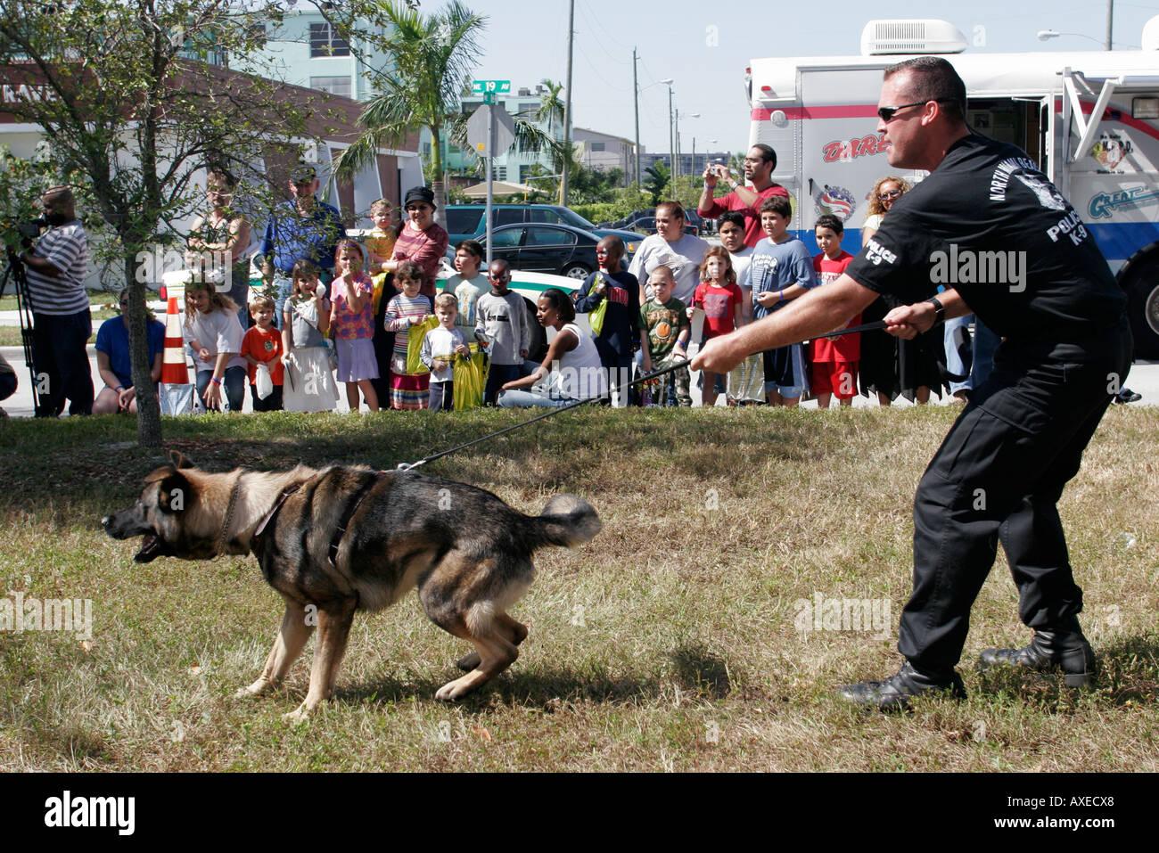 North Miami Beach Florida Del Dipartimento Di Polizia Di Open House