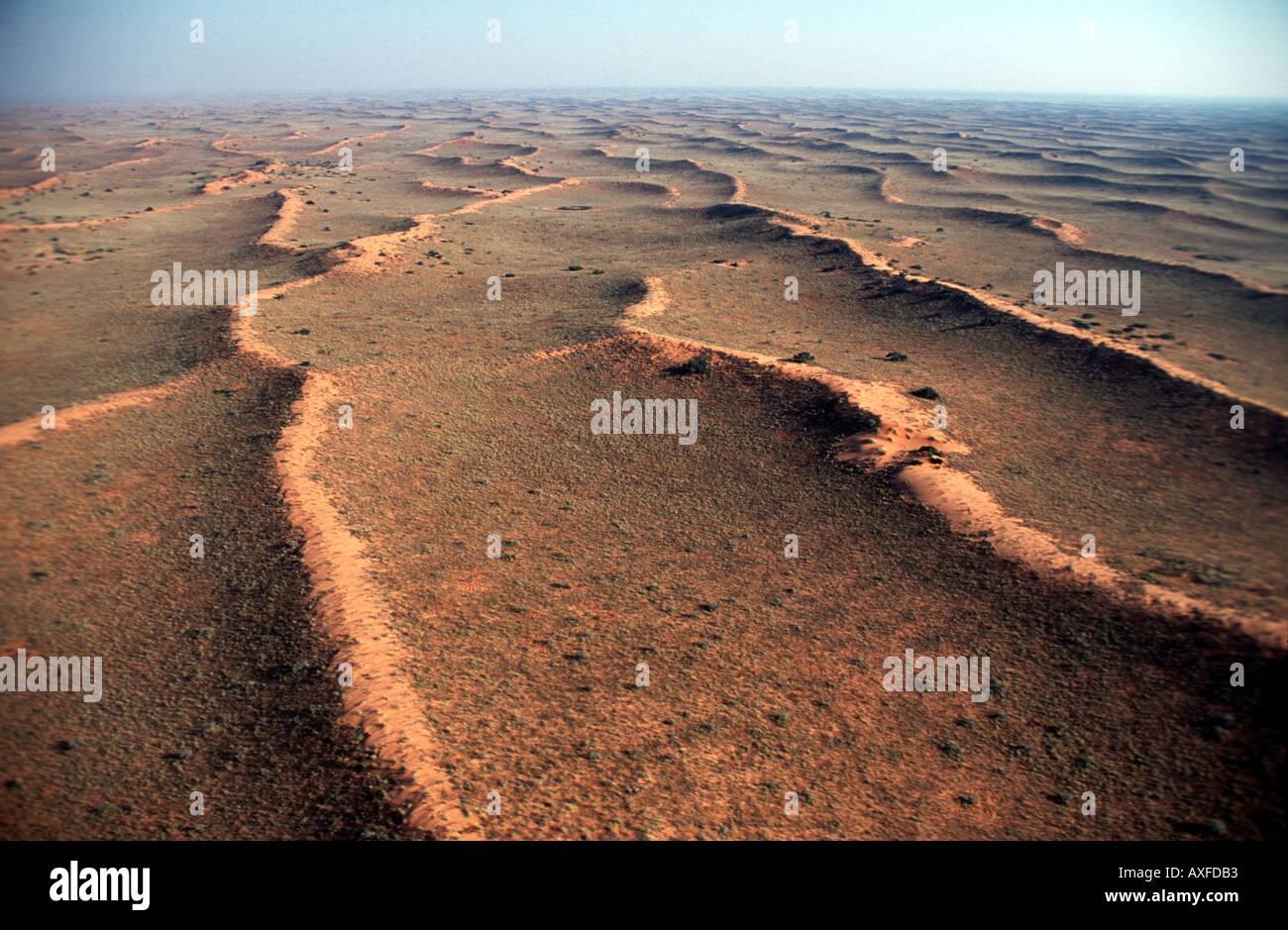 Fossil dune di sabbia del deserto del Kalahari Trans Kalahari Parco Nat Immagini Stock