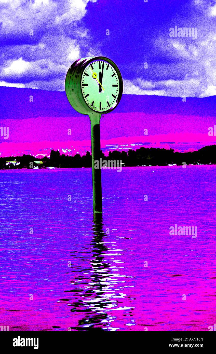 Tempo concetto atemporale acqua di simbolo Immagini Stock