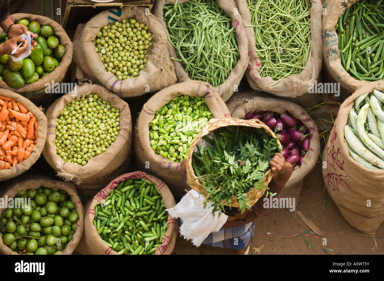 Mercato, Trivandrum, Kerala, India Foto Stock