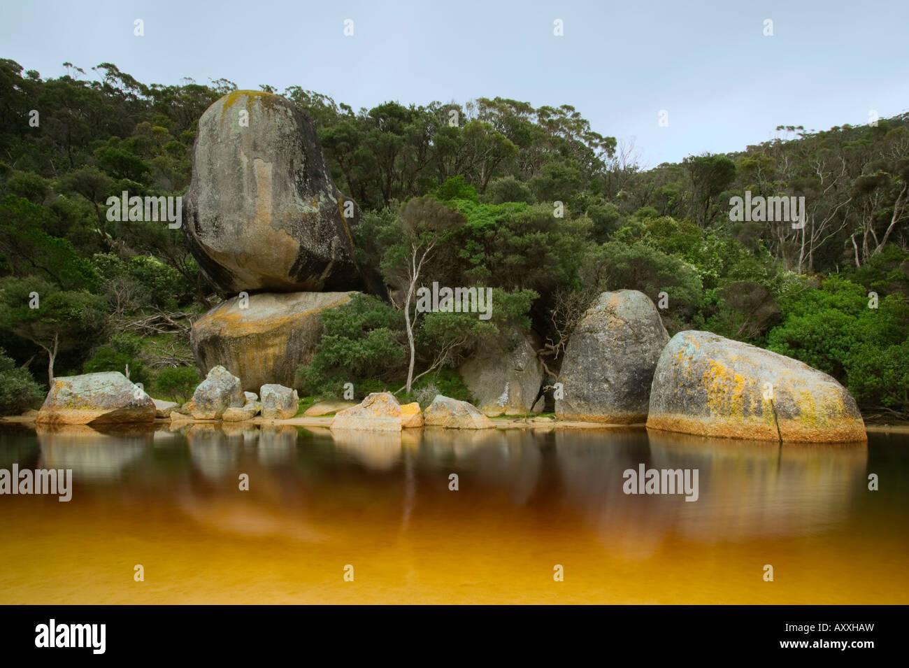 Fiume fiume di marea, Wilsons Promontory, Victoria, Australia Immagini Stock