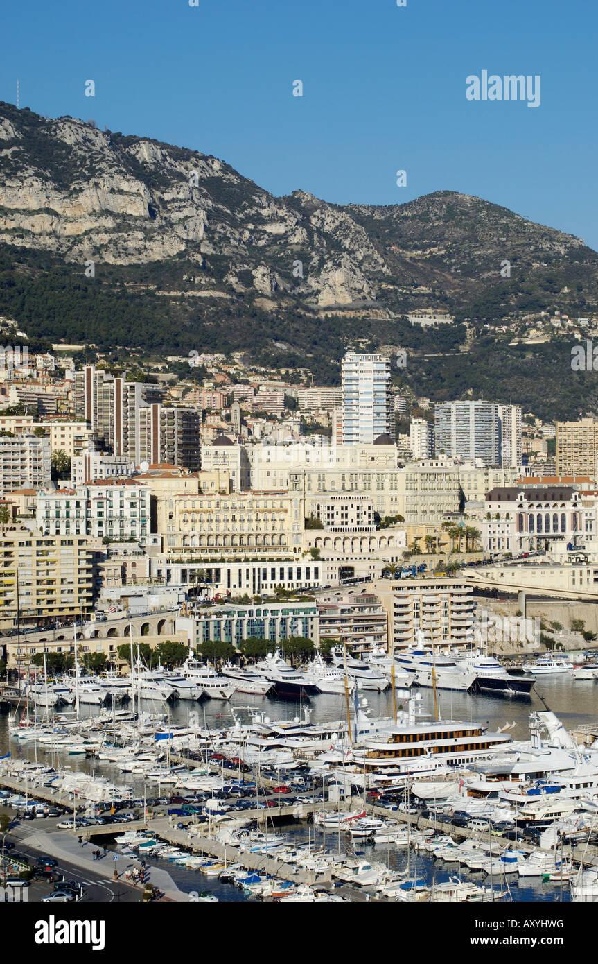 Monte Carlo, il Principato di Monaco, Cote d'Azur, Mediterraneo, Europa Immagini Stock