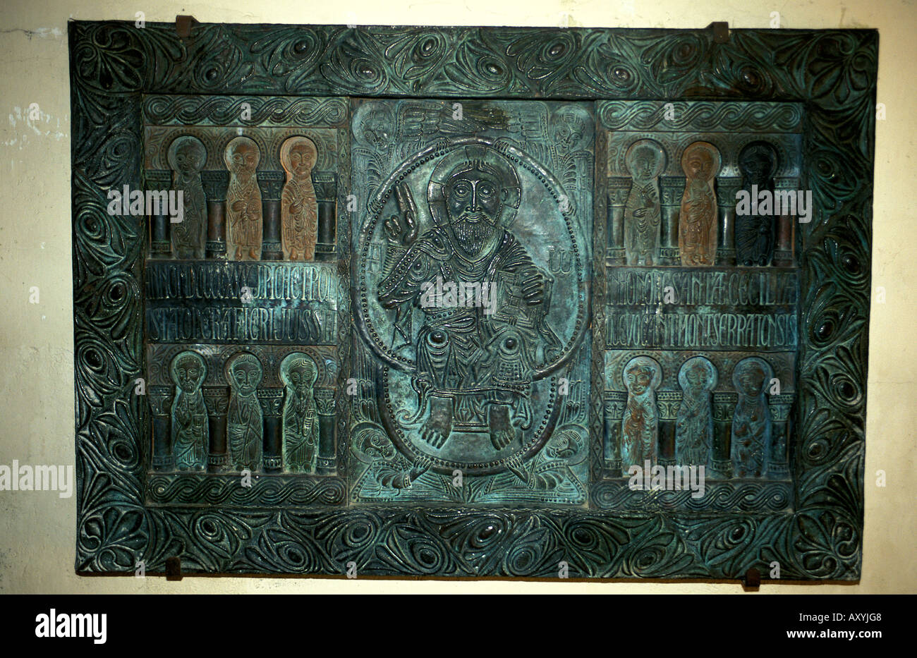 Montserrat un arte religiosa di sollievo in rame Immagini Stock
