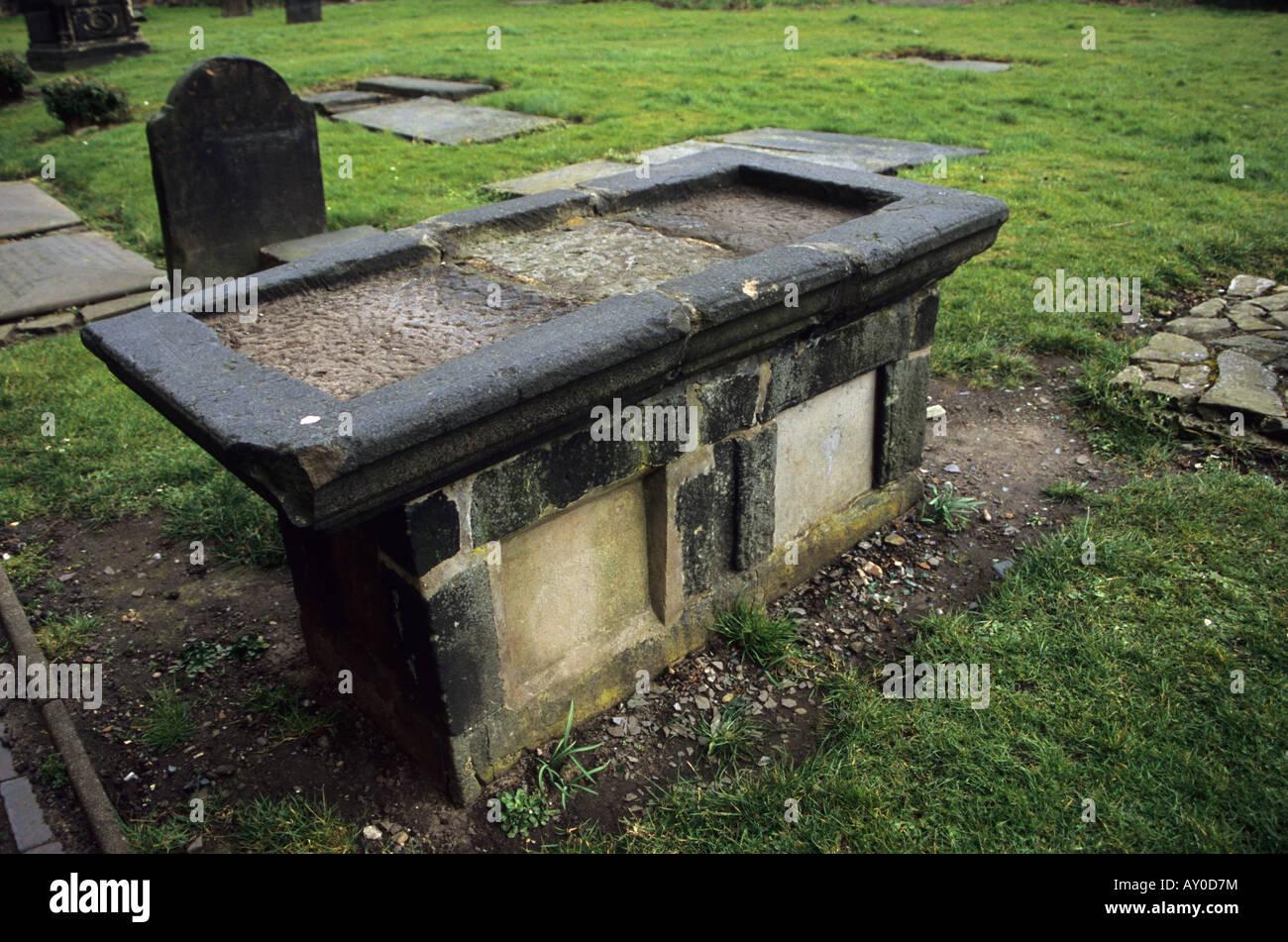 Molly Leigh la sua tomba in Burslem Stoke-on-Trent Immagini Stock