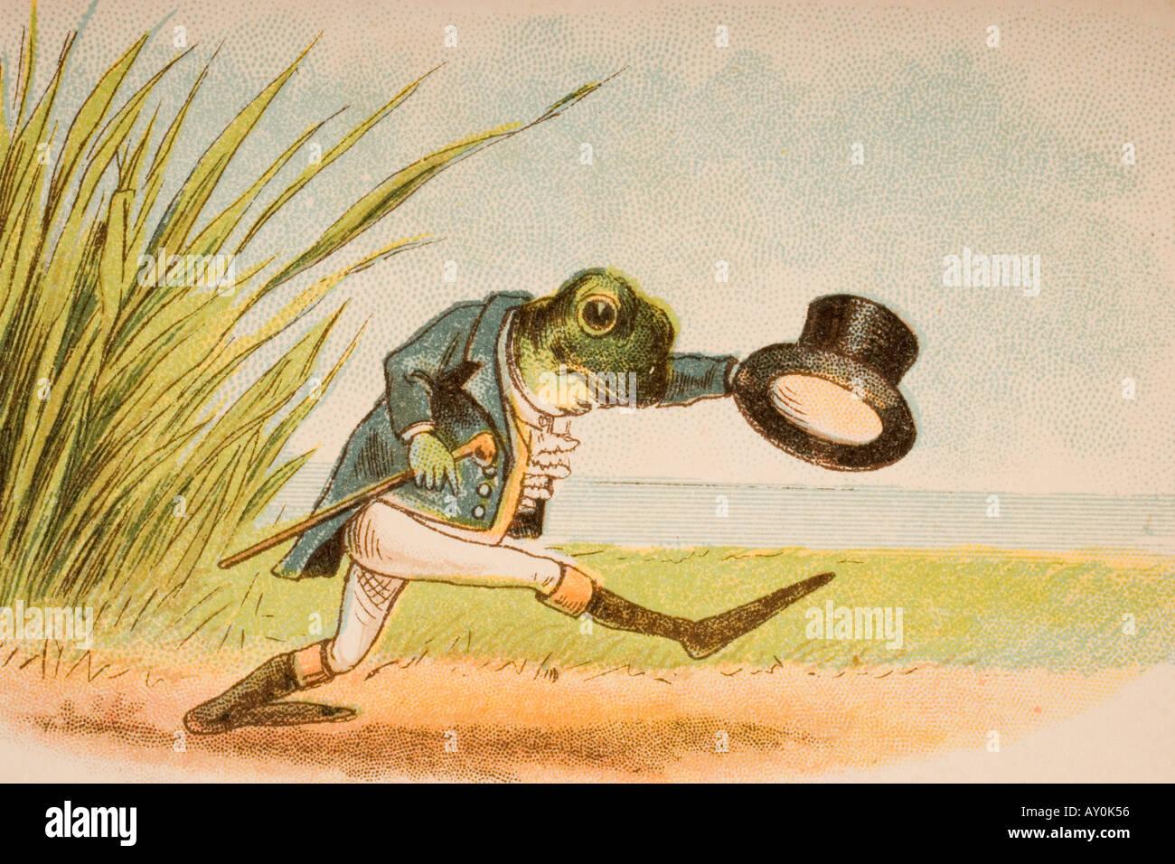 La rana che avrebbe un Wooing andare dalla vecchia madre Goose s rime e racconti Immagini Stock