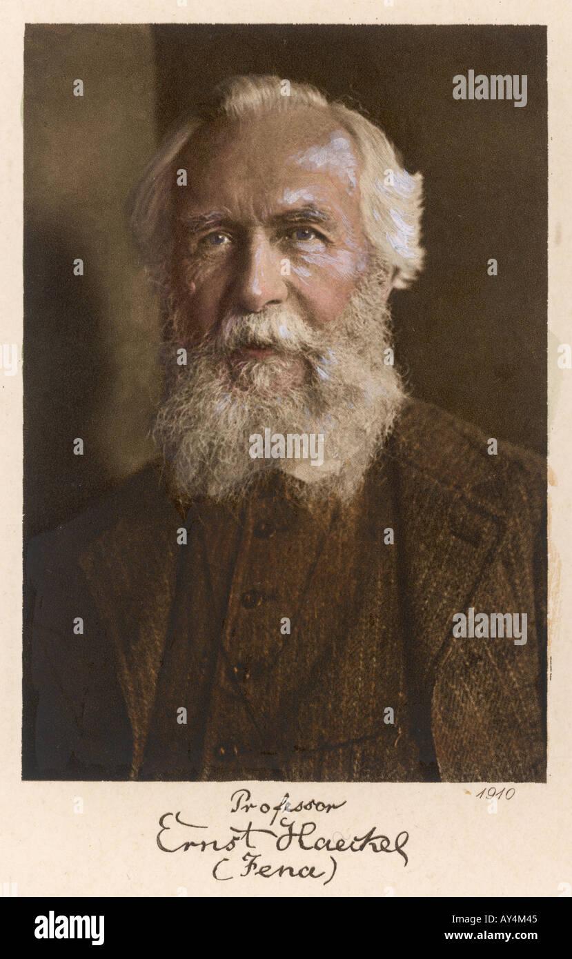 Ernst Haeckel Età 75 Immagini Stock