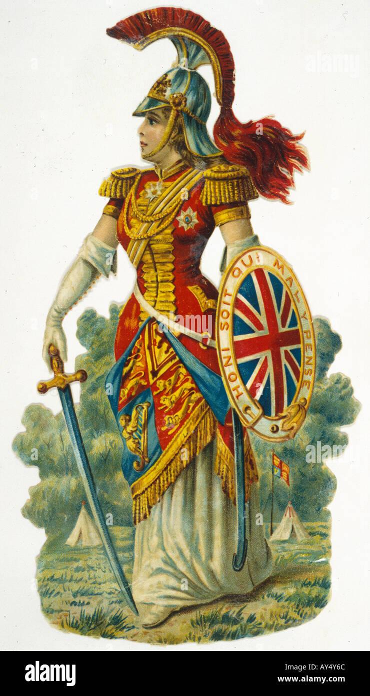 Britannia in armi Immagini Stock