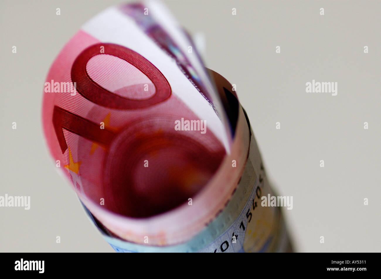BANCONOTE IN EURO Immagini Stock