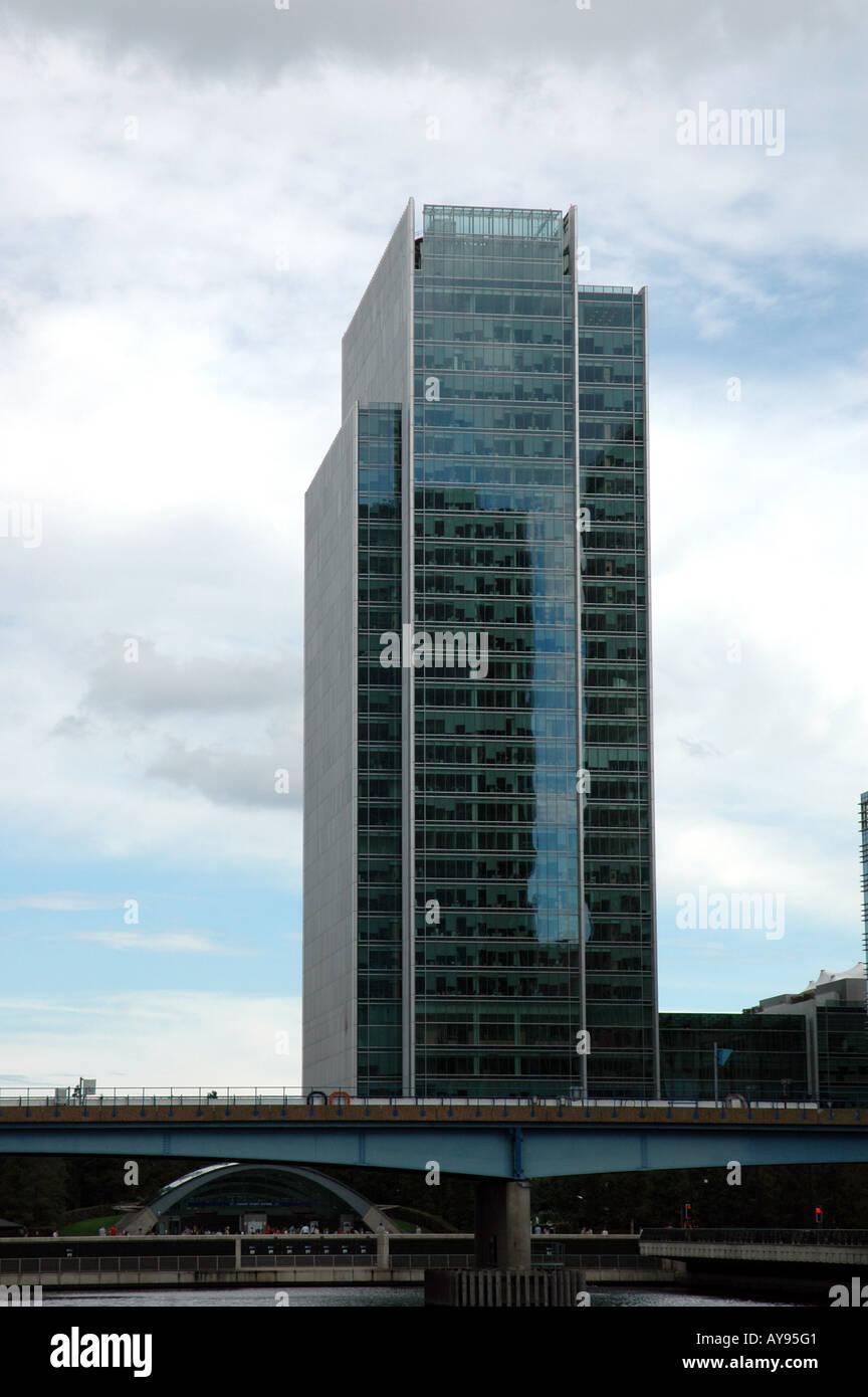 10 superiore di Bank Street grattacielo, Canary Wharf a Londra Immagini Stock