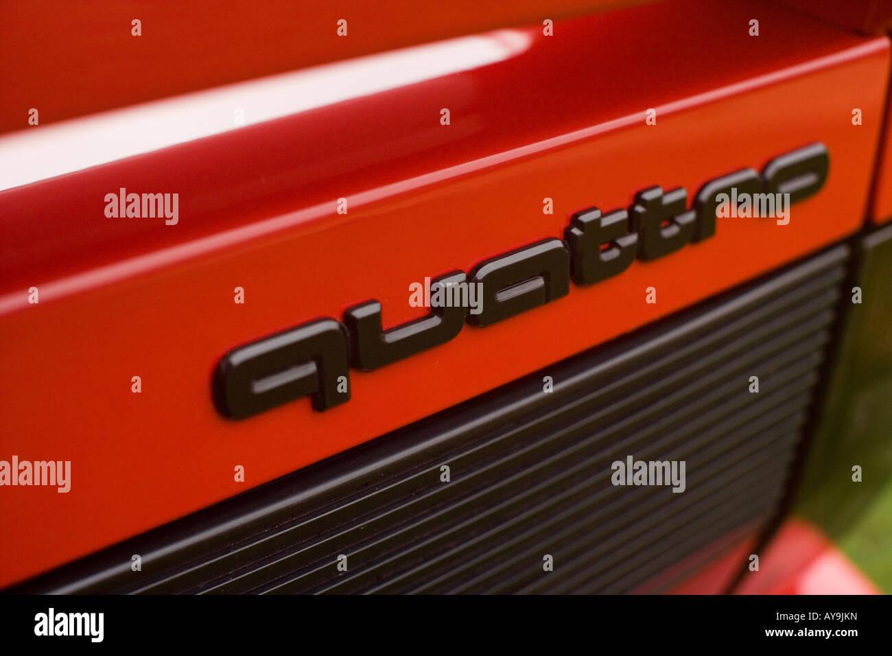 AUDI QUATTRO RED 2008 Immagini Stock