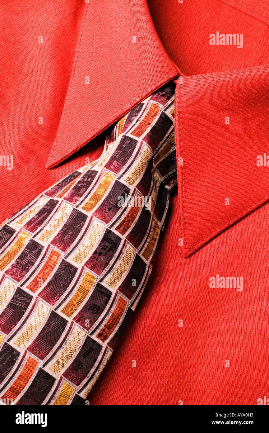 La camicia e cravatta Immagini Stock