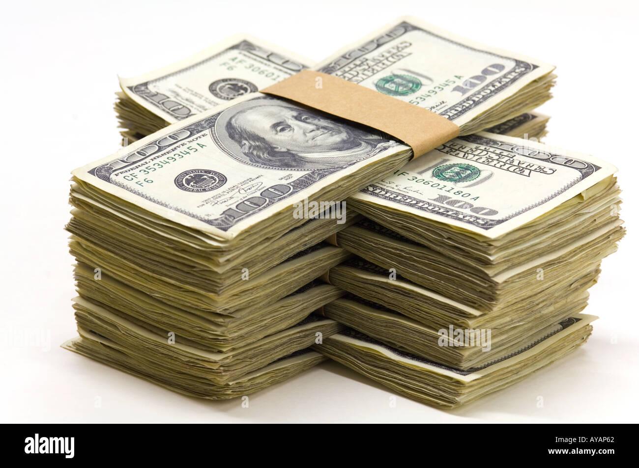 Pack 100 fatture del dollaro US concept Immagini Stock