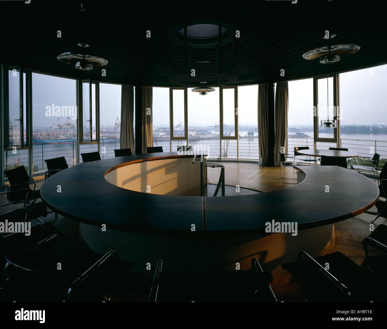 Von Gerkan Marg e uffici. Sala conferenze. Architetto: von Gerkan, Marg e partner Immagini Stock