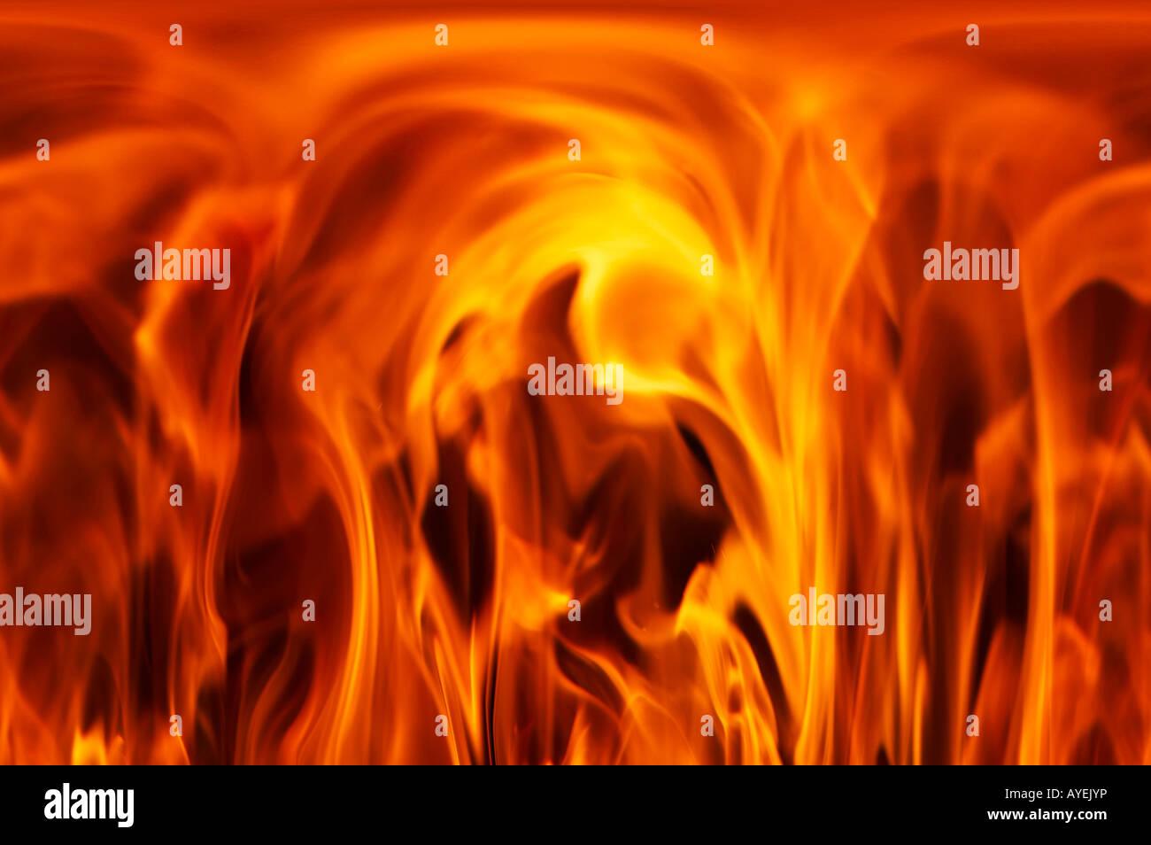 Colpo di fuoco e fiamme Immagini Stock