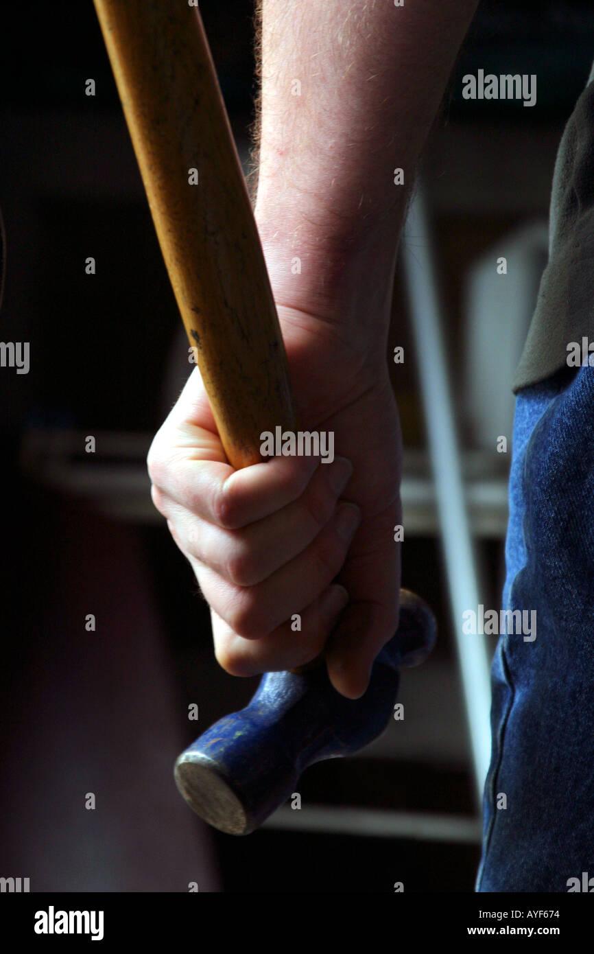 Omicidio in mente il concetto di martello Immagini Stock