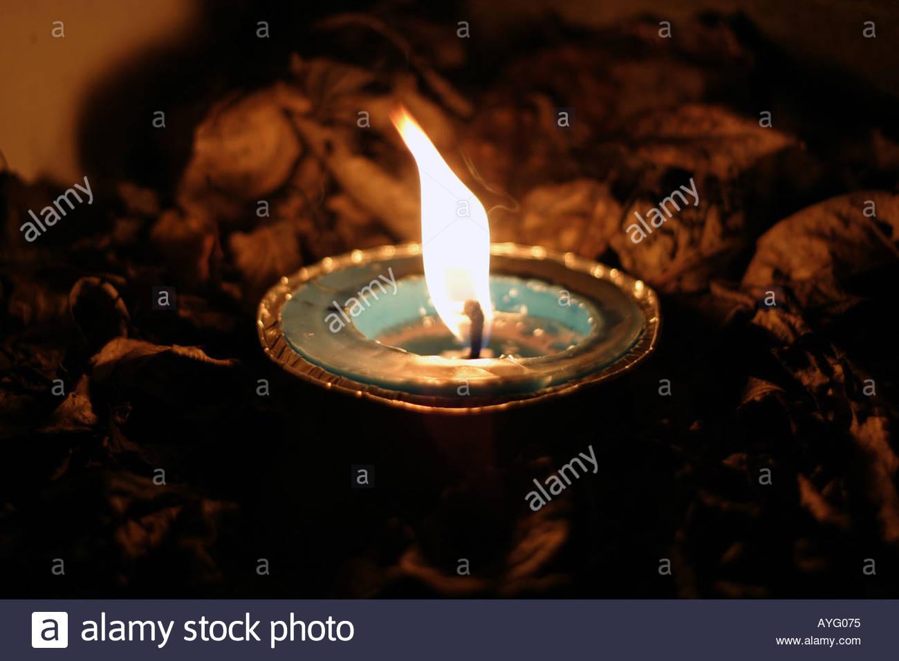 Una lampada ad olio Immagini Stock