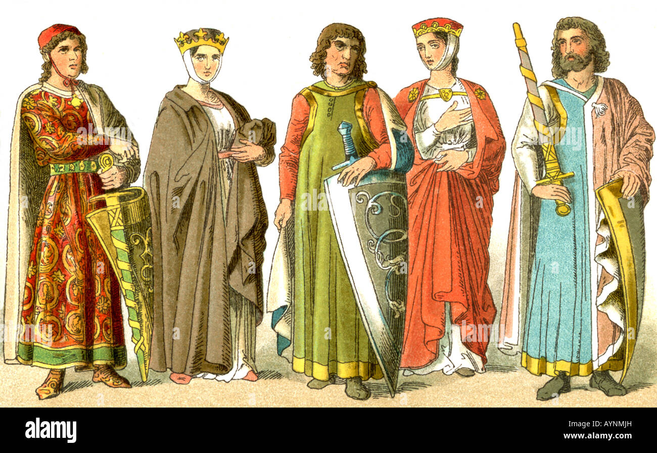 Nobiltà tedesca A.D. 1000-1100 Immagini Stock