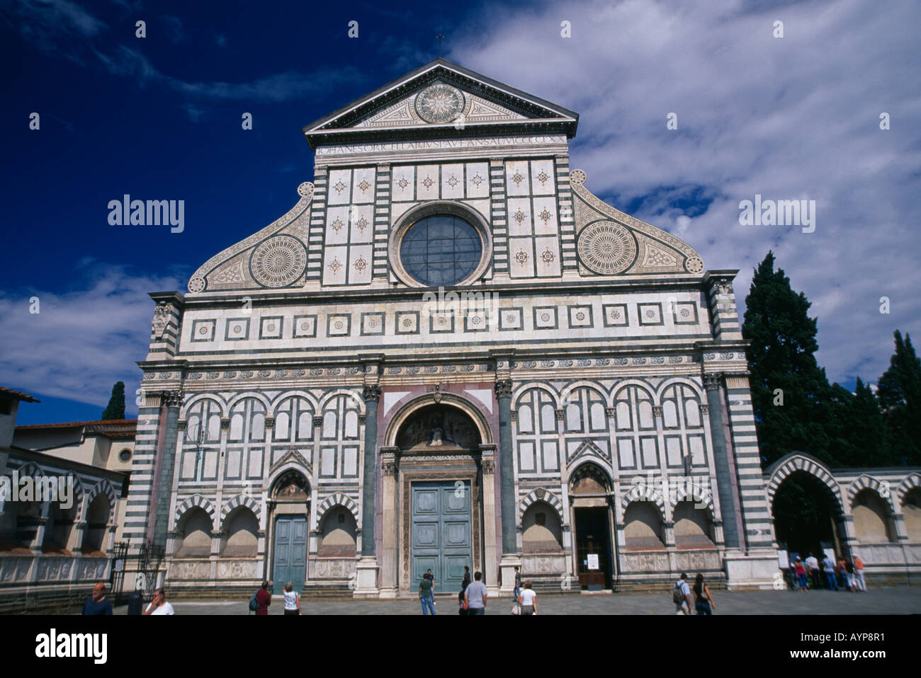 Italia Toscana Firenze Santa Maria Novella Esterno Facciata In Marmo