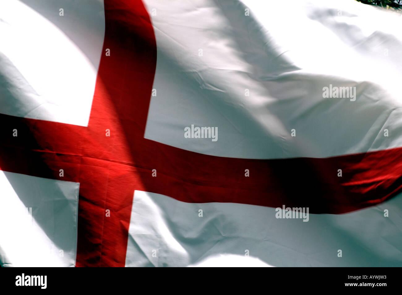 Inghilterra Bandiera Con La Croce Rossa Su Sfondo Bianco Foto