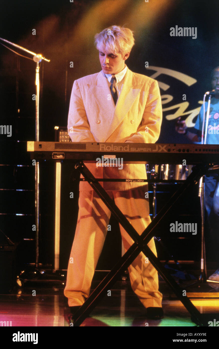 DURAN DURAN UK gruppo pop con Nick Rhodes circa 1983 Immagini Stock