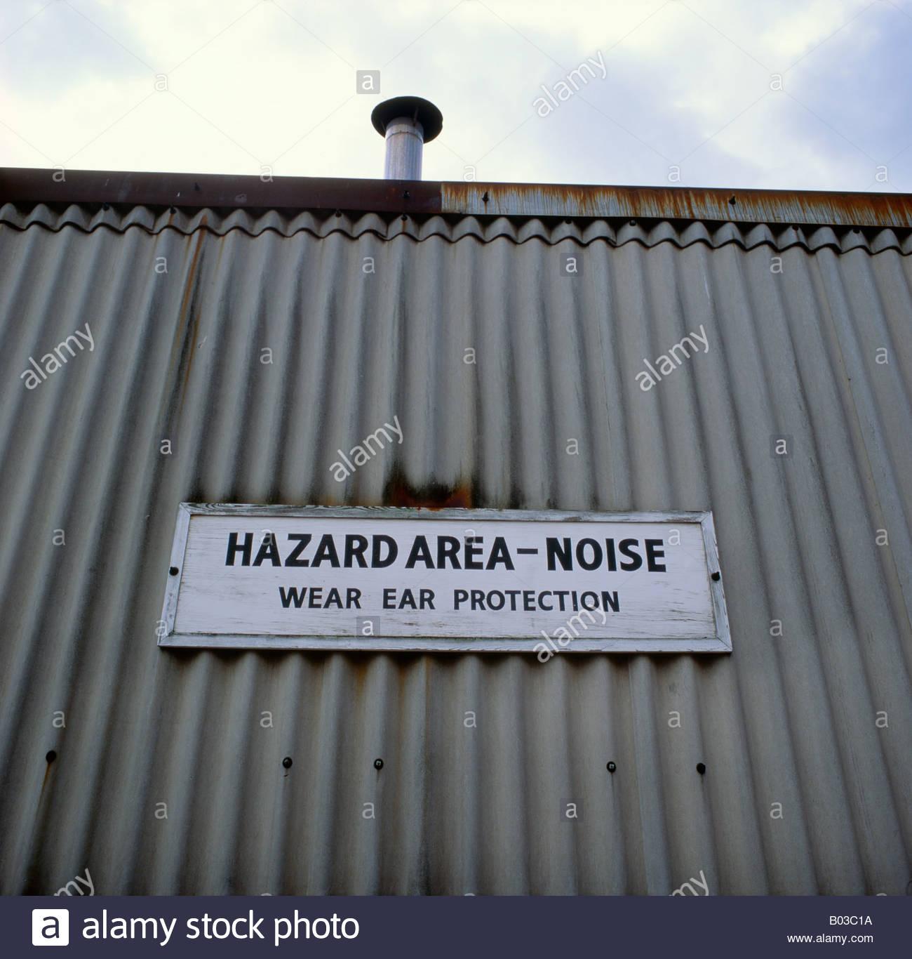 Pericolo acustico di avvertimento in caso di unità industriali Immagini Stock