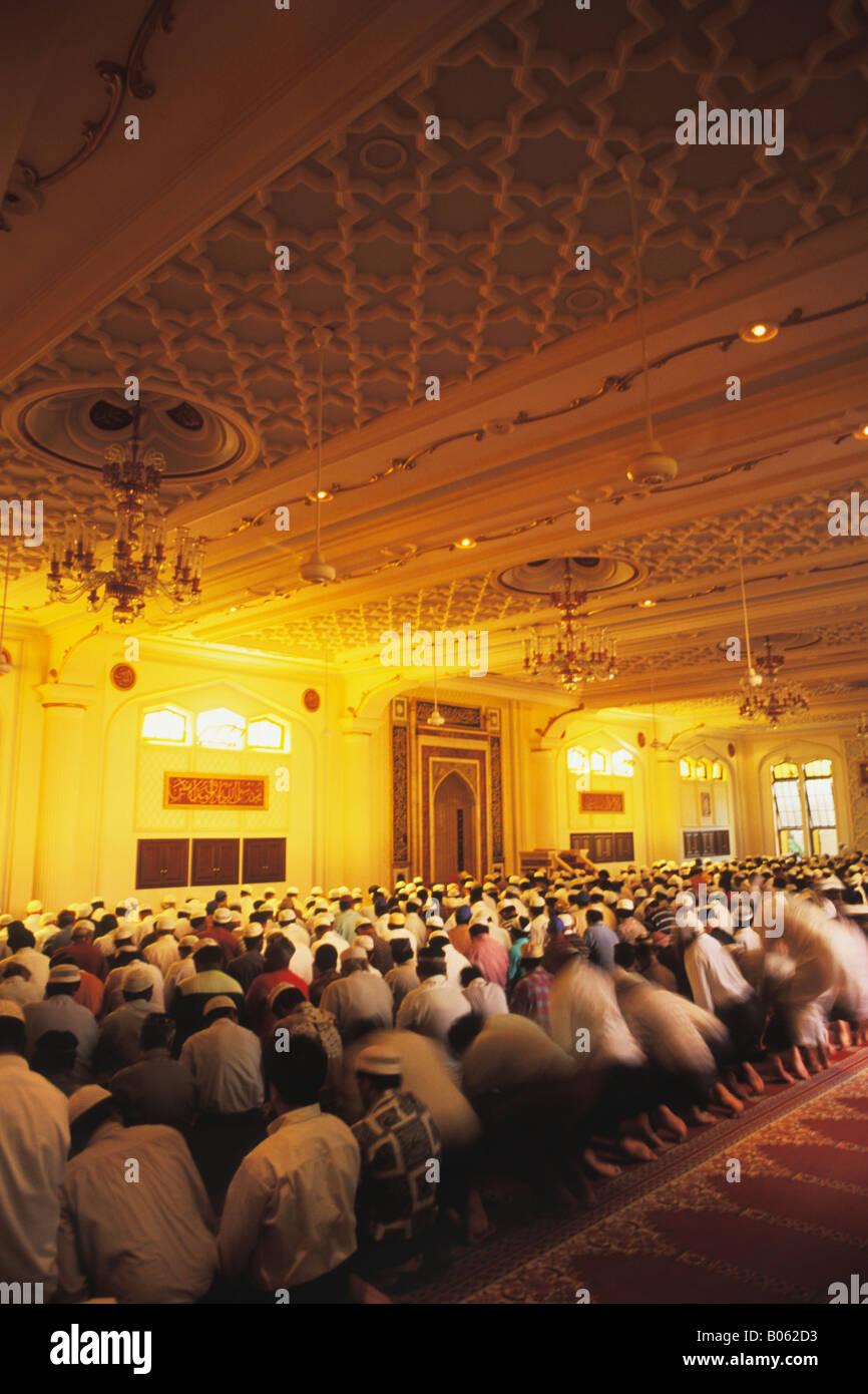 Venerdì a mezzogiorno preghiere alla Moschea Jumah a Durban Natal Sud Africa Immagini Stock